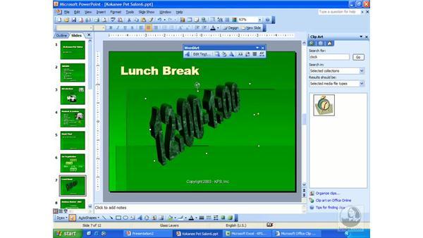 WordArt: PowerPoint 2003 Essential Training