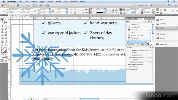 Linked text: InDesign CS5.5 New Features Overview