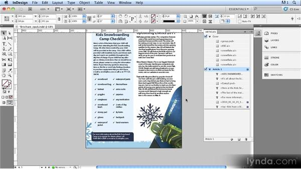 The Articles panel: InDesign CS5.5 New Features Overview