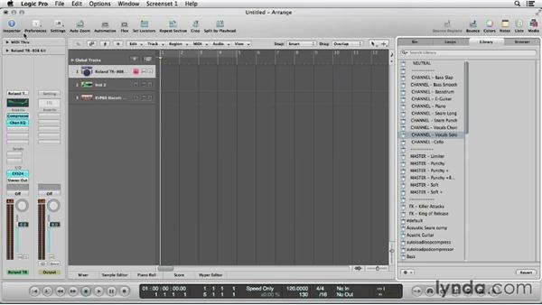 Choosing the drum kit: Logic Production Techniques: Making Beats