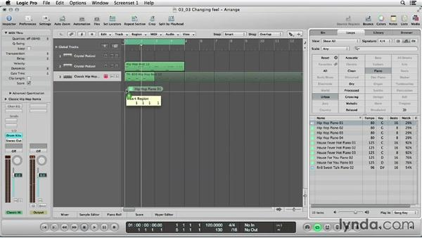 Changing the feel of Apple Loops: Logic Production Techniques: Making Beats