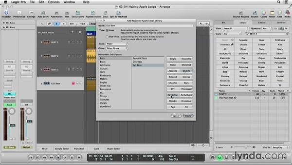 Making, tagging, and indexing your own Apple Loops: Logic Production Techniques: Making Beats