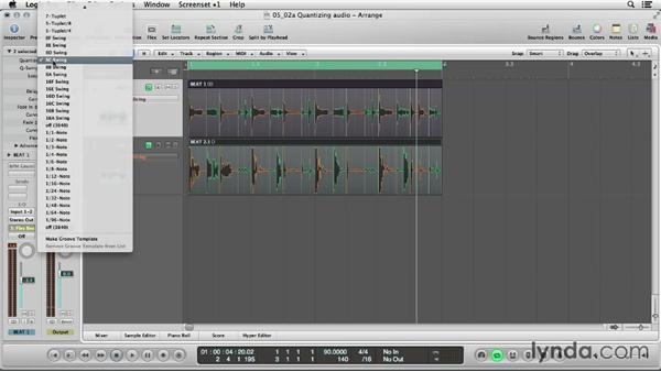 Quantizing audio: Logic Production Techniques: Making Beats