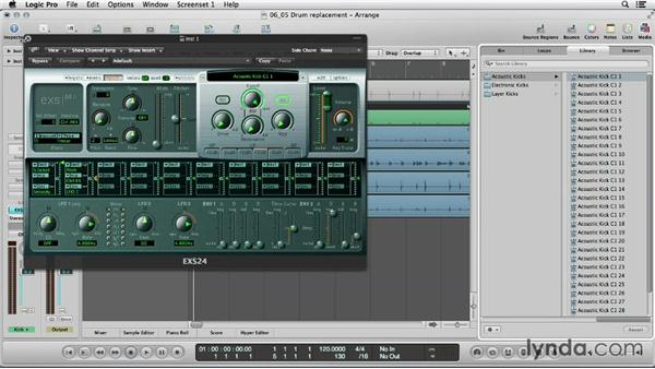 Fattening your sound with drum replacement/doubling: Logic Production Techniques: Making Beats