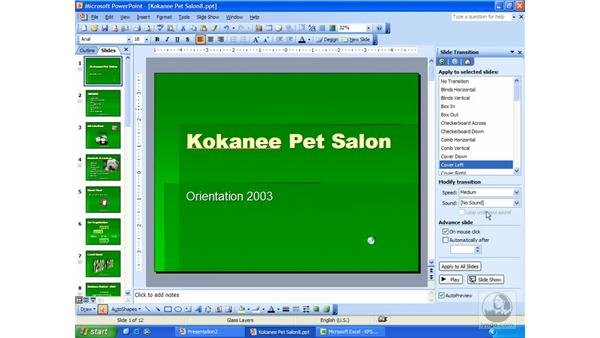 transitions: PowerPoint 2003 Essential Training
