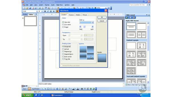 design templates: PowerPoint 2003 Essential Training