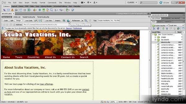 Previewing pages: Dynamic Dreamweaver Websites: Creating and Validating Forms