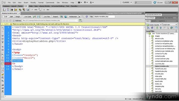 : Dynamic Dreamweaver Websites: Creating and Validating Forms