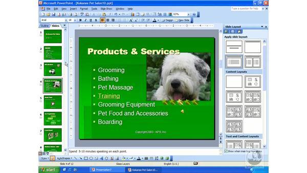 hyperlinks: PowerPoint 2003 Essential Training