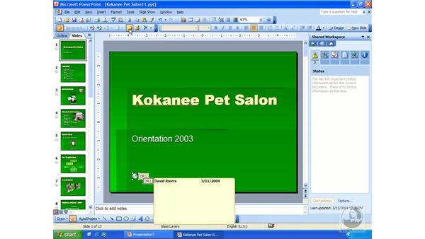 comments: PowerPoint 2003 Essential Training