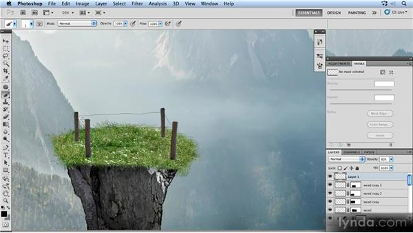 Drawing the fence wires: Photoshop Artist in Action: Uli Staiger's Powered by Nature