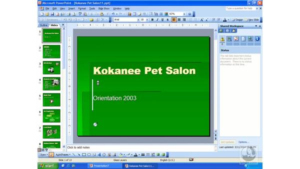 sending for review: PowerPoint 2003 Essential Training