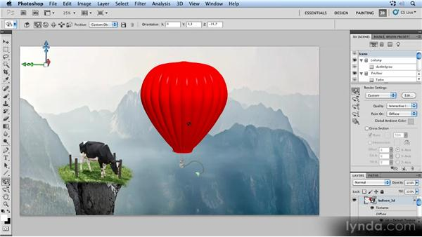 Positioning the 3D balloon: Photoshop Artist in Action: Uli Staiger's Powered by Nature