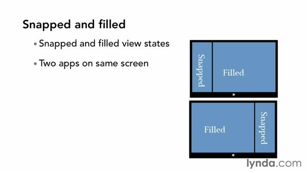 Understanding the view states: Building Windows Store Apps Essential Training