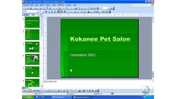 hyperlinking: PowerPoint 2003 Essential Training