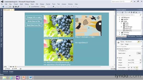 Understanding URI file paths: Building Windows Store Apps Essential Training