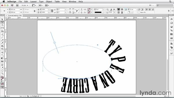 086 Centering type on a curve: InDesign FX