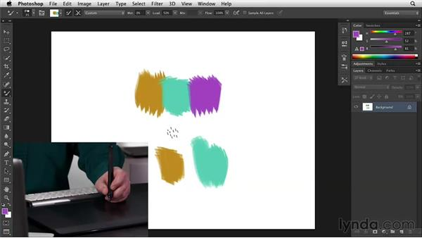 Utilizing the stylus side switch buttons: Wacom Essential Training