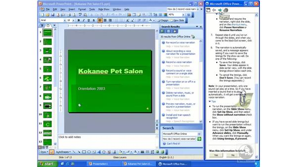 the Office Assistant: PowerPoint 2003 Essential Training