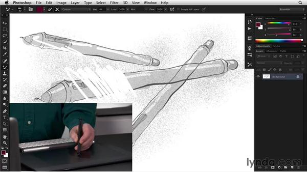 Utilizing the eraser tip: Wacom Essential Training