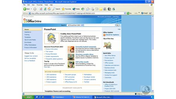 MS Office Online: PowerPoint 2003 Essential Training