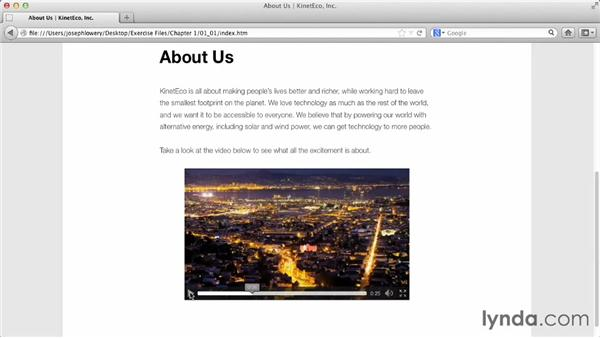 What we're going to build: HTML5 Projects: Video Bumpers