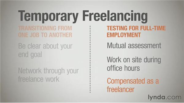 Temporary models of freelancing: Running a Design Business: Freelancing