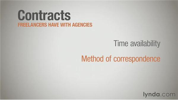 Contracts with agencies: Running a Design Business: Freelancing