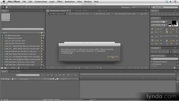 Warning dialog boxes: Kinetic Typography Techniques with After Effects