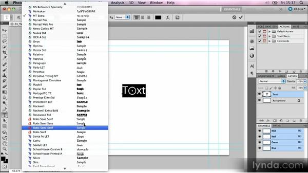 Text formatting in Photoshop: Kinetic Typography Techniques with After Effects