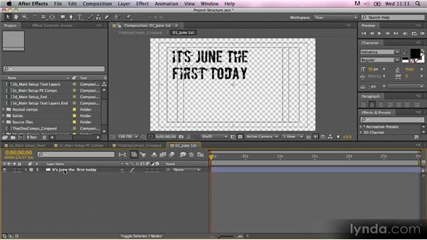 Importing text from Photoshop: Kinetic Typography Techniques with After Effects