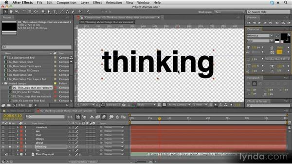 Using the Character panel: Kinetic Typography Techniques with After Effects