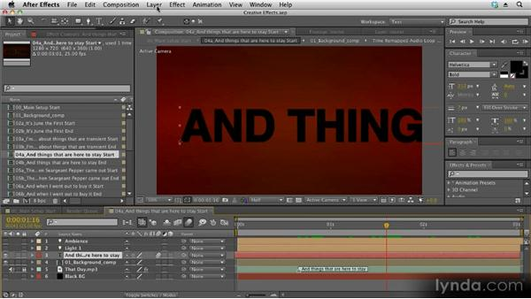 Creating outlines from text layers: Kinetic Typography Techniques with After Effects