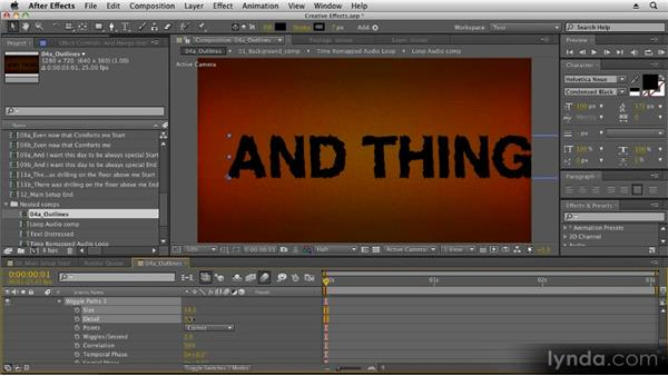 Using path operations: Kinetic Typography Techniques with After Effects