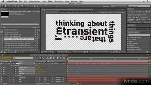 Using nulls: Kinetic Typography Techniques with After Effects