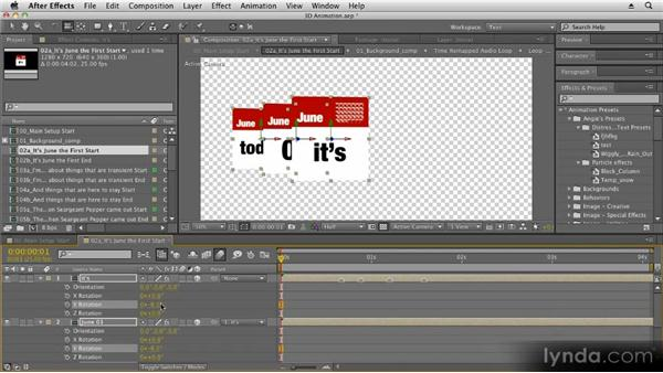 Arranging layers with parenting: Kinetic Typography Techniques with After Effects