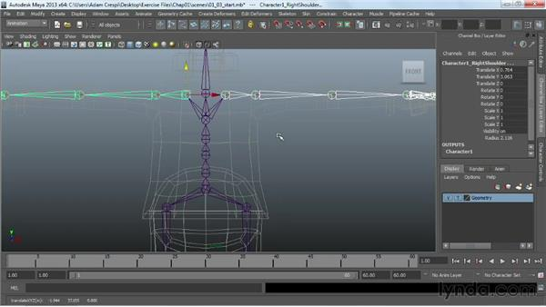Adjusting the size and components: Working with HumanIK Rigs in Maya