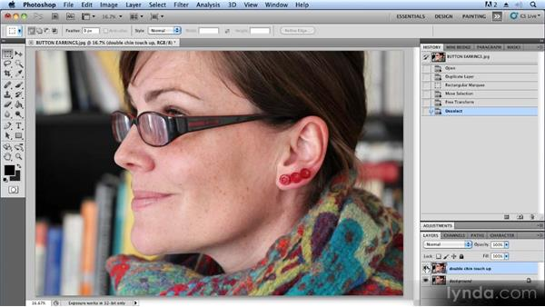 Removing skin imperfections: Advanced Craft Photography