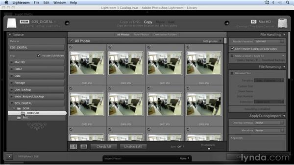 Downloading the images with Lightroom: Time-Lapse Photography Workshop