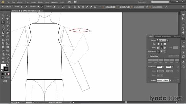 Working with older versions of Illustrator: Illustrator for Fashion Design: Drawing Flats