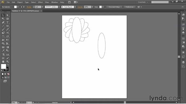 Using the Rotate tool and duplicating objects: Illustrator for Fashion Design: Drawing Flats
