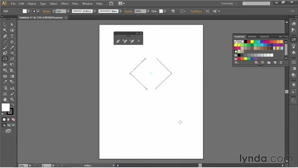 Using the Reflect tool and joining paths: Illustrator for Fashion Design: Drawing Flats