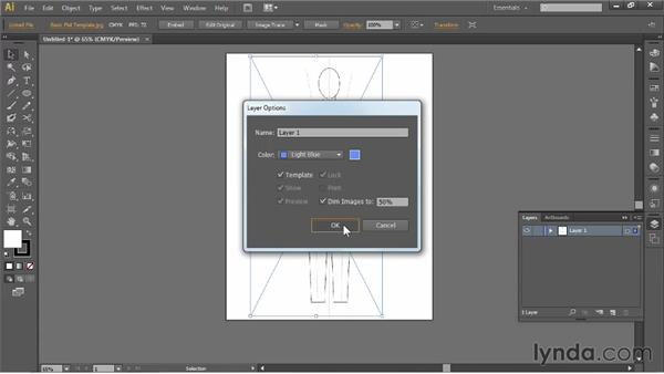 Placing a template: Illustrator for Fashion Design: Drawing Flats