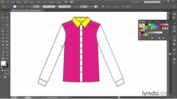 The parts of a shirt and collar: Illustrator for Fashion Design: Drawing Flats