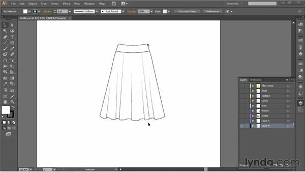 Understanding how fabric drapes: Illustrator for Fashion Design: Drawing Flats