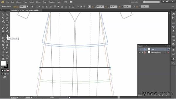 Setting up guides: Illustrator for Fashion Design: Drawing Flats