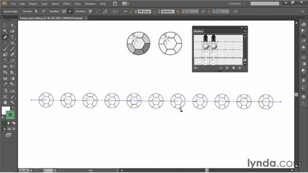 Using and editing brushes: Illustrator for Fashion Design: Drawing Flats