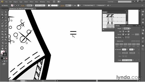 Making an overlock brush: Illustrator for Fashion Design: Drawing Flats