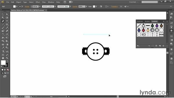 Creating buttonhole symbols: Illustrator for Fashion Design: Drawing Flats
