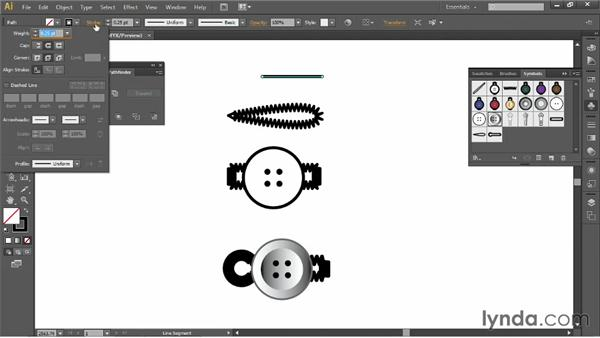 Creating bar tack symbols: Illustrator for Fashion Design: Drawing Flats